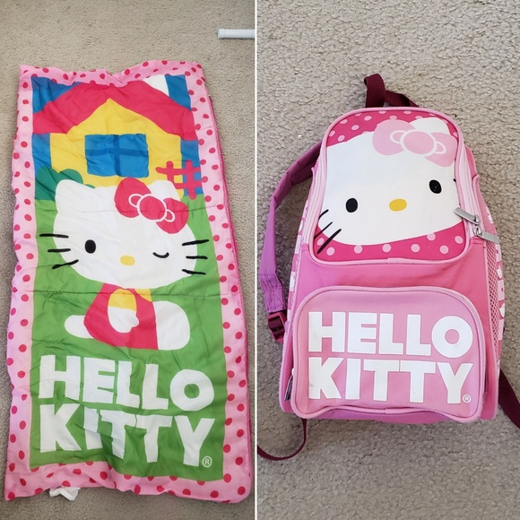 ad5f648e7 Hello Kitty Other - Kids Hello Kitty sleeping bag and backpack set